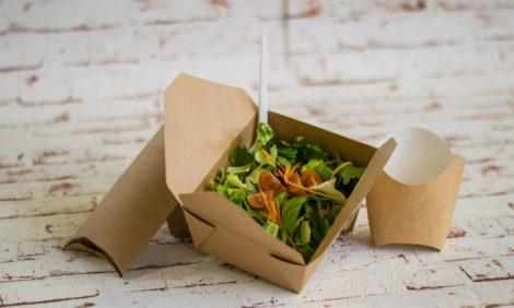 1200 ml kraft salátás doboz
