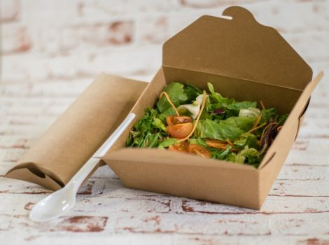 1450 ml kraft salátás doboz