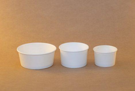 245 ml fehér fagylaltos papírpohár