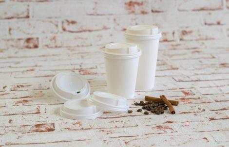 300/350/450 ml fehér műanyag tető